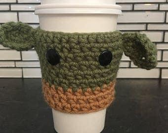 Yoda cup cozy