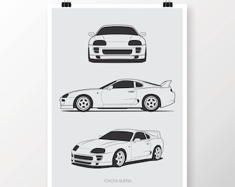 Toyota Supra Poster