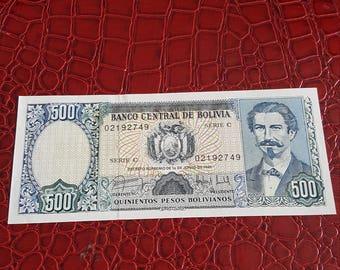 Bolivia, 500 Pesos Bolivanos, 1981, C-021, UNC
