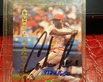 Calvin  Reese Signed  Autografed CERTIFIED ROOKIE CARD