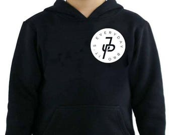 Jake Paul Its Everyday Bro circle Youth hoodie. 100% COTTON. Jake Paul Merch