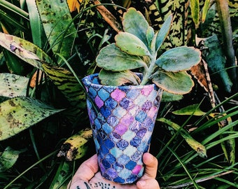 Stained Glass Indoor Paper Pot Plant