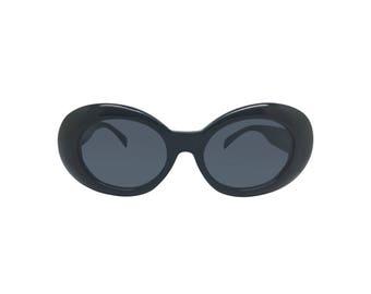 Black Vintage Clout Goggle Sunglasses