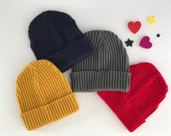 Colorful beanie for toddler