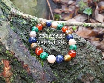 Bracelet for asthma semi-precious beads