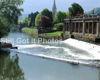 Bath Weir - Photo Canvas Print
