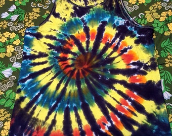 Large Tie-dyed Black-backed spiral
