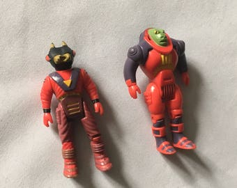 Tyco Dino Riders 1987 Action Figure Lot Krulos Rulon Bitor Figures