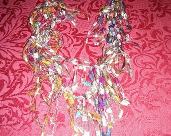 """Vintage 18"""" hand made ribbon necklace."""