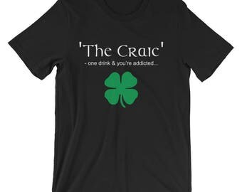 The Craic, Irish Themed Short-Sleeve Unisex T-Shirt