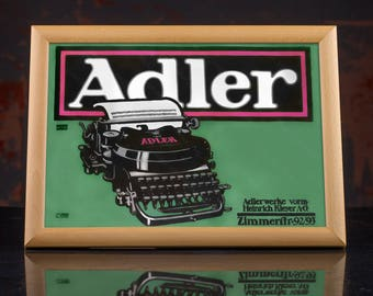ADLER Ribbon Typewriter Wall Poster, modern decor, modern office, retro office, industrial wall decor, green poster, geek gift, mancave art