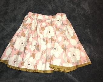 Floral Print Circle Skirt 3T