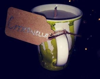 Citronella Mug Candle 10 oz