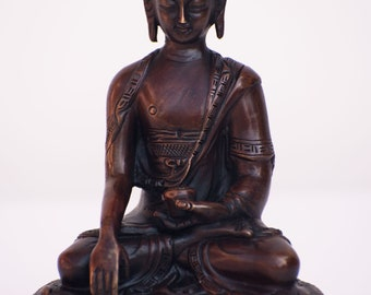 Buddha on lotus sitting statue