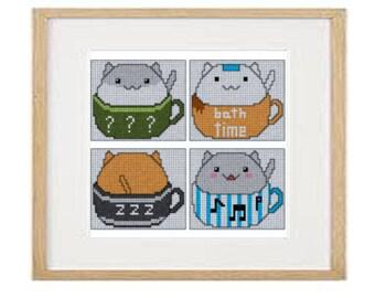 Cats 06 cross stitch pattern (download PDF)