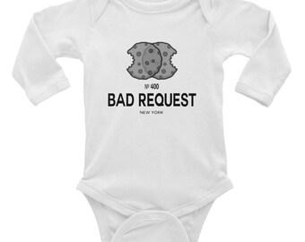 Infant Long Sleeve Cookies Bodysuit