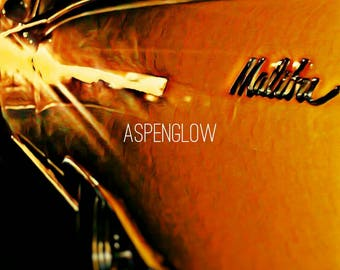 Classic Chevy Malibu Poster