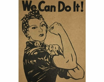 "Moleskine - Personalized notebook with ""We Can Do It!"". size pocket (9x14)"