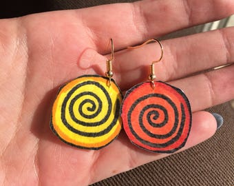 Swirly Circle Earrings