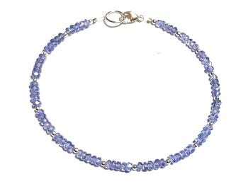 Tanzanite and Sterling Silver bracelet