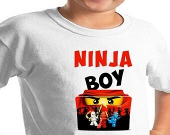 Lego Ninjago Boy , Iron On Transfer , Lego Ninjago , Ninjago Boy DIY Birthday Shirt , Instant Download , Ready to Print , Digital Files