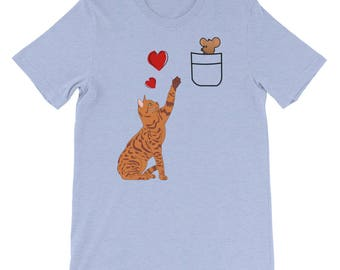Cat and Mouse Love Unisex T-Shirt