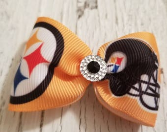 Steelers Bow on French barrette