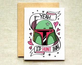 Boba Fett Love Card, Star Wars Card, Valentine's Day Card, Funny Love Card