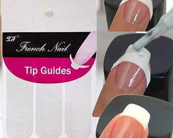 cs New French Manicure Nail Art Tips Form Guide Sticker Polish DIY Stencil