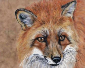 Fox Painting - Fox Wall Art - British Wildlife - Fox Lover Gift - Fox Picture - Fox Artwork  - Home Decor - Animal Print - Woodland Animal