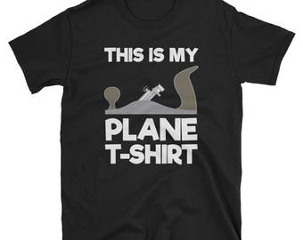 This Is My Plane T-Shirt Woodworking Gift Tee for Carpenters