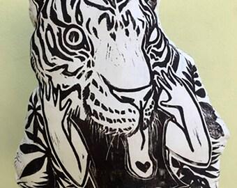 Black Tiger Pillow
