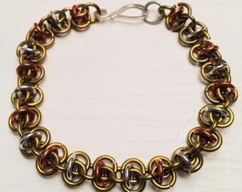 Link tri tone bracelet