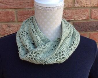 Alpaca and silk crocheted cowl.
