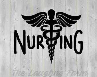 Nursing- RN - svg, dxf, eps, png, Pdf - Download - Cut File, Clipart - Cricut Explorer - Silhouette Cameo