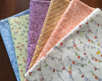 Fat Quarters / Pastel - Kids Themed