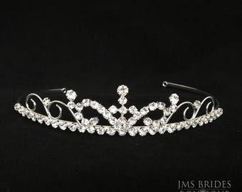 Kelly Wedding Rhinestone,Bridesmaids  ,Tiara,Bride,large,Bridal l Bridal Crystal Wedding Crown Rhinestone Tiara Wedding Tiara Diamante,Bride