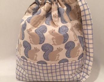 Knitting Bag, Project Bag, Crochet Bag, Sock Knitting Bag, Shawl Knitting Bag, Knitting Tote