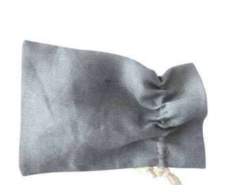 50 grey linen bags small drawstring pouches in grey pure linen set of 50 linen purses mini gift bags wedding favor bags linen packaging
