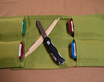 Fishing Tackle Pouch 4 pockets.  Multi Pocket General Purpose Pouch. Camping, Hiking, Hunting, First Aid, House Hold.