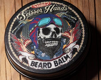 Beard wax / balm 2 OZ/60Ml..Manly beard balm genuine organic materials with satisfying flavor. Pure manly materials made for style