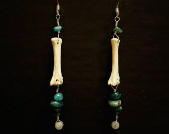 Fox bone Earrings