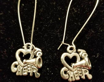 Boutique Silver Alloy ...Lovely She loves to CHEER Earrings #C72