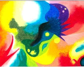 Fantastic pastel oil 21x29.7 cm