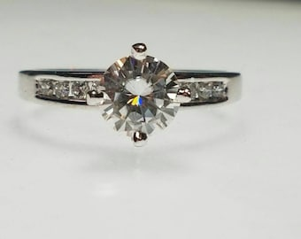 14k moissanite diamond engagement ring