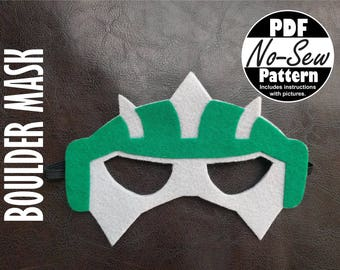 Boulder Rescue Bot No-Sew Mask Pattern