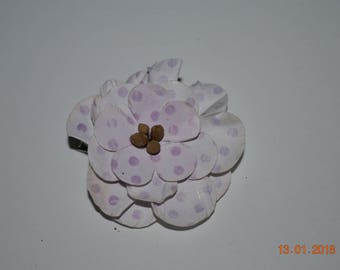 Small Polka-dotted Flower Clip