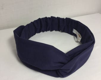 Navy Blue adult headband
