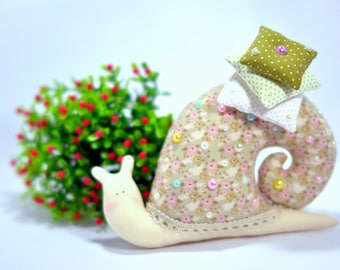 Snail, textile, gift, toy, handmade, tilda. soft toy, anti-allergic materials, home decor, collectible toy. amulet on happiness.