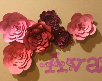 Adorable flower banner with a custom name!